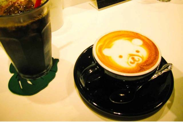 Image of coffee in a maid Cafe
