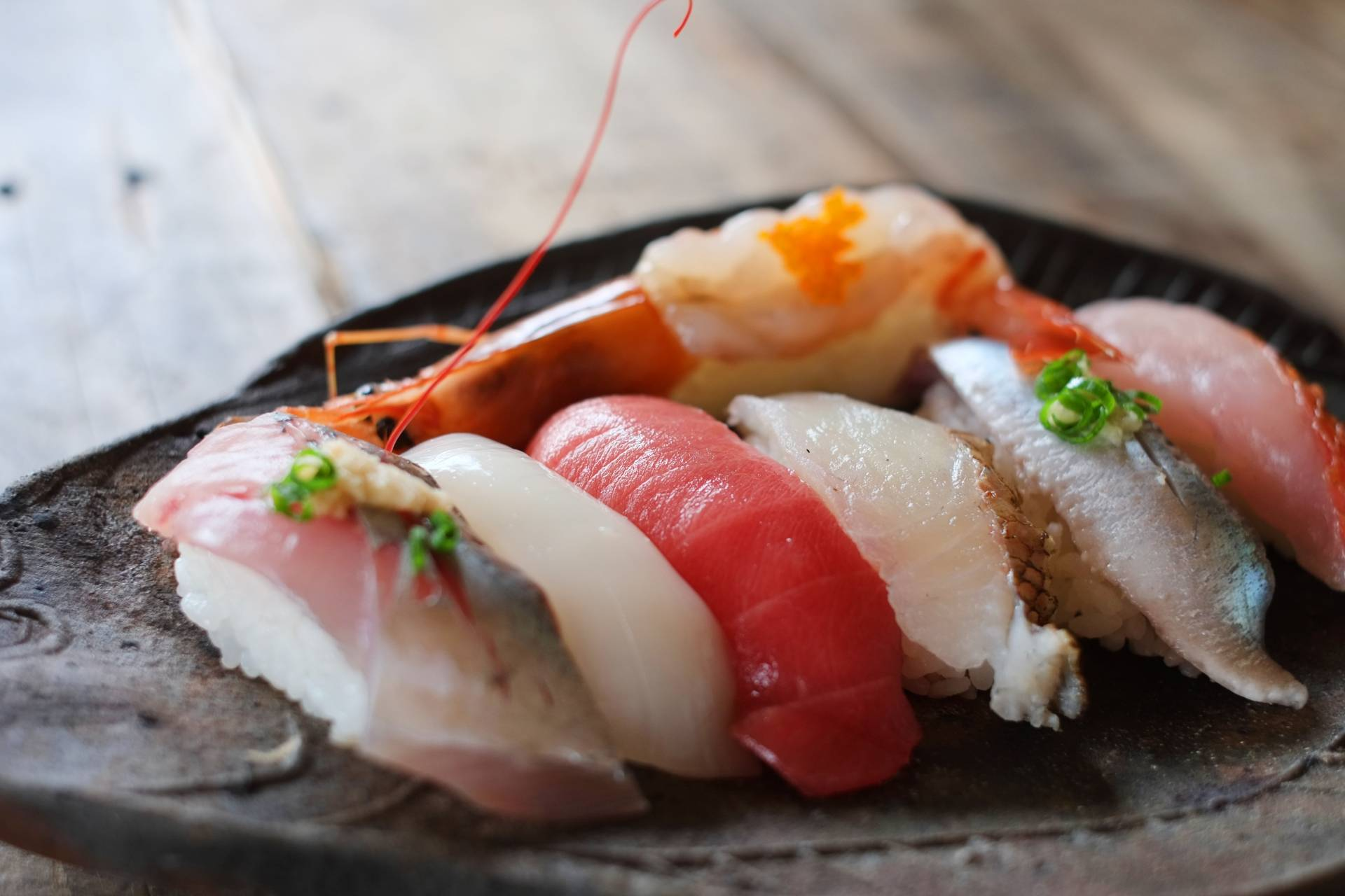 Enjoy sushi at a fishing Village